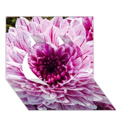 Wonderful Flowers Heart 3D Greeting Card (7x5)