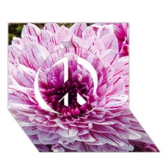 Wonderful Flowers Peace Sign 3D Greeting Card (7x5)