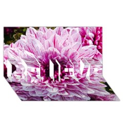 Wonderful Flowers BELIEVE 3D Greeting Card (8x4)