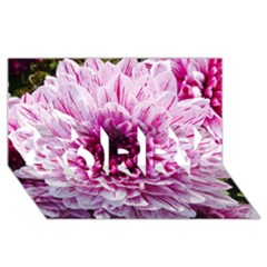 Wonderful Flowers SORRY 3D Greeting Card (8x4)