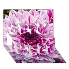 Wonderful Flowers Get Well 3d Greeting Card (7x5)