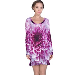 Wonderful Flowers Long Sleeve Nightdresses