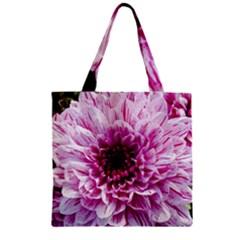 Wonderful Flowers Zipper Grocery Tote Bags