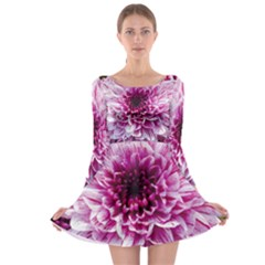 Wonderful Flowers Long Sleeve Skater Dress