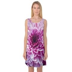 Wonderful Flowers Sleeveless Satin Nightdresses