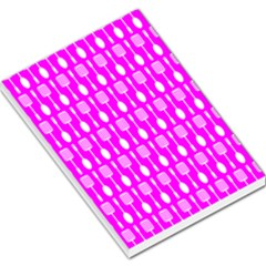 Purple Spatula Spoon Pattern Large Memo Pads