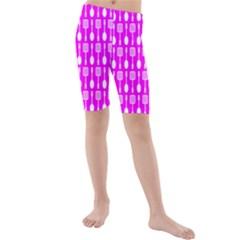 Purple Spatula Spoon Pattern Kid s Swimwear