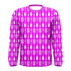 Purple Spatula Spoon Pattern Men s Long Sleeve T-shirts