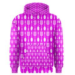 Purple Spatula Spoon Pattern Men s Pullover Hoodies