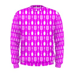 Purple Spatula Spoon Pattern Men s Sweatshirts