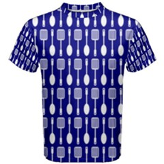 Indigo Spatula Spoon Pattern Men s Cotton Tees