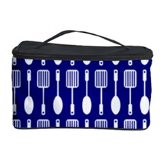 Indigo Spatula Spoon Pattern Cosmetic Storage Cases