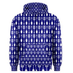 Indigo Spatula Spoon Pattern Men s Zipper Hoodies