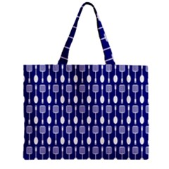 Indigo Spatula Spoon Pattern Zipper Tiny Tote Bags