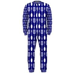 Indigo Spatula Spoon Pattern OnePiece Jumpsuit (Men)