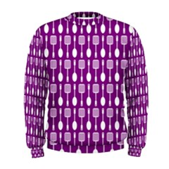 Magenta Spatula Spoon Pattern Men s Sweatshirts