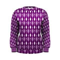 Magenta Spatula Spoon Pattern Women s Sweatshirts