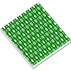 Green And White Kitchen Utensils Pattern Small Memo Pads