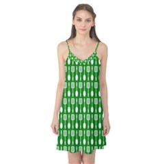 Green And White Kitchen Utensils Pattern Camis Nightgown