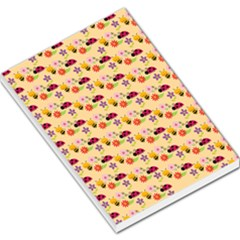 Colorful Ladybug Bess And Flowers Pattern Large Memo Pads