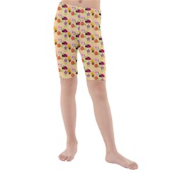 Colorful Ladybug Bess And Flowers Pattern Kid s swimwear