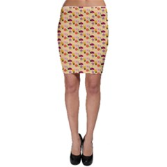 Colorful Ladybug Bess And Flowers Pattern Bodycon Skirts