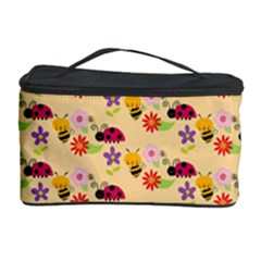 Colorful Ladybug Bess And Flowers Pattern Cosmetic Storage Cases
