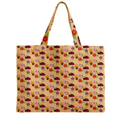 Colorful Ladybug Bess And Flowers Pattern Zipper Tiny Tote Bags