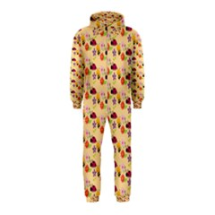 Colorful Ladybug Bess And Flowers Pattern Hooded Jumpsuit (kids)