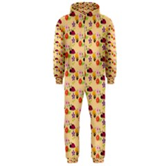 Colorful Ladybug Bess And Flowers Pattern Hooded Jumpsuit (men)