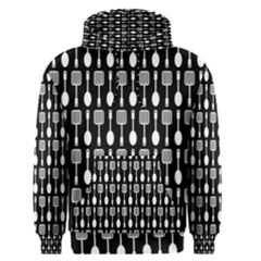 Black And White Spatula Spoon Pattern Men s Pullover Hoodies