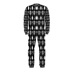 Black And White Spatula Spoon Pattern OnePiece Jumpsuit (Kids)