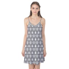 Gray And White Kitchen Utensils Pattern Camis Nightgown