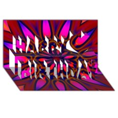 Kaleido Fun 06 Happy Birthday 3d Greeting Card (8x4)