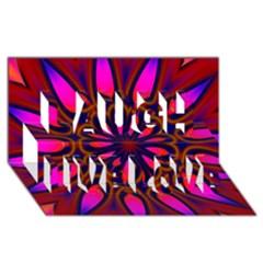 Kaleido Fun 06 Laugh Live Love 3D Greeting Card (8x4)