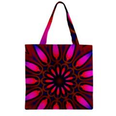 Kaleido Fun 06 Zipper Grocery Tote Bags