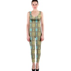Spatula Spoon Pattern Onepiece Catsuits