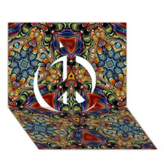 Magnificent Kaleido Design Peace Sign 3d Greeting Card (7x5)