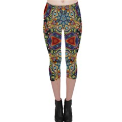 Magnificent Kaleido Design Capri Leggings