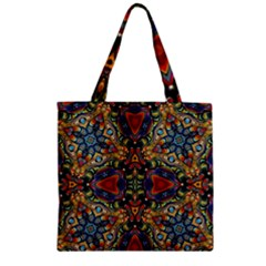 Magnificent Kaleido Design Zipper Grocery Tote Bags
