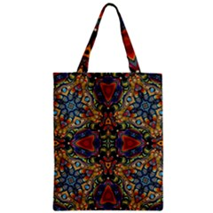 Magnificent Kaleido Design Zipper Classic Tote Bags