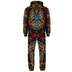 Magnificent Kaleido Design Hooded Jumpsuit (Men)
