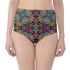 Magnificent Kaleido Design High Waist Bikini Bottoms