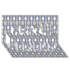 Spatula Spoon Pattern Best Friends 3D Greeting Card (8x4)