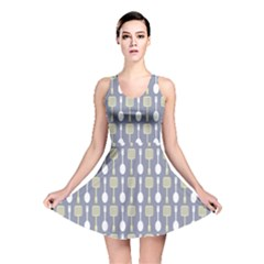 Spatula Spoon Pattern Reversible Skater Dresses