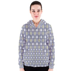 Spatula Spoon Pattern Women s Zipper Hoodies