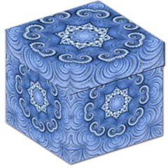 Awesome Kaleido 07 Blue Storage Stool 12