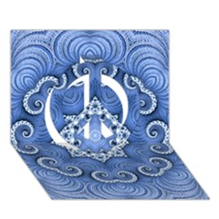 Awesome Kaleido 07 Blue Peace Sign 3d Greeting Card (7x5)