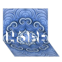 Awesome Kaleido 07 Blue HOPE 3D Greeting Card (7x5)