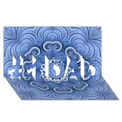 Awesome Kaleido 07 Blue #1 Dad 3d Greeting Card (8x4)